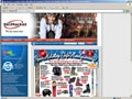 Example of ecommerce web site design